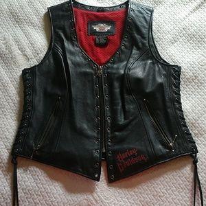 Leather Harley Davidson Vest